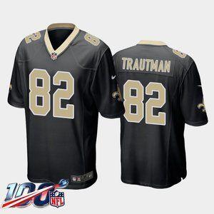 New Orleans Saints Adam Trautman Black Jersey